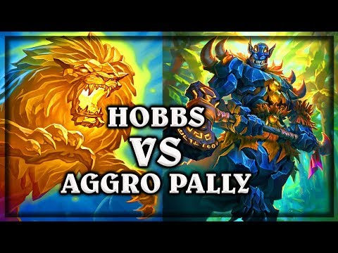 Hobbs VS Aggro Paladin  ~ Kobolds & Catacombs ~  Hearthstone heroes of warcraft