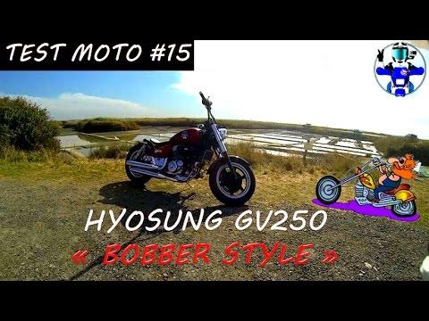 test moto 15 hyosung gv 250 aquila bobber harley pas cher permis a2 youtube. Black Bedroom Furniture Sets. Home Design Ideas