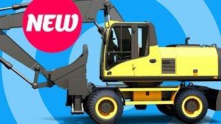 Excavator videos for children - Construction vehicles for kids