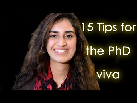 Tips for the PhD Viva