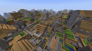 Как создать большой город в minecraft за 10 сек(вот вставляйте village(distance=0 size=99999), 2016-03-27T11:50:47.000Z)