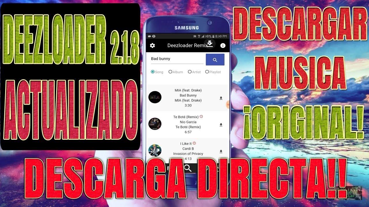 ! DeezLoader 2 1 8 Actualizado 02/01/2019 !DESCARGA DIRECTA SIN ACORTADORES  APP APK DESCARGAR MUSICA