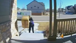 FedEx Driver Seen On Surveillance Tossing Package Feet From Front Door