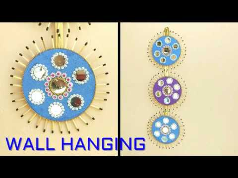 DIY - HOW TO MAKE WALL HANGING TORAN FROM OLD CDS & DVDS | OLD CD REUSE IDEAS FOR WALL HANGING TORAN