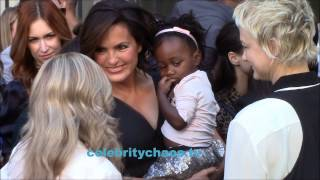 Mariska Hargitay and friends hanging out at star ceremony
