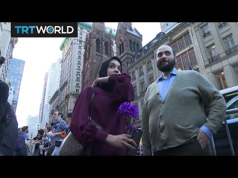 Ramadan in New York: Muslims break fast in front of Trump Tower