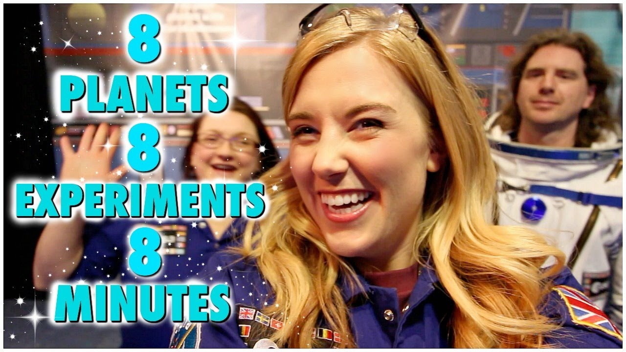 8 Planets, 8 Experiments, 8 Minutes! | Maddie Moate