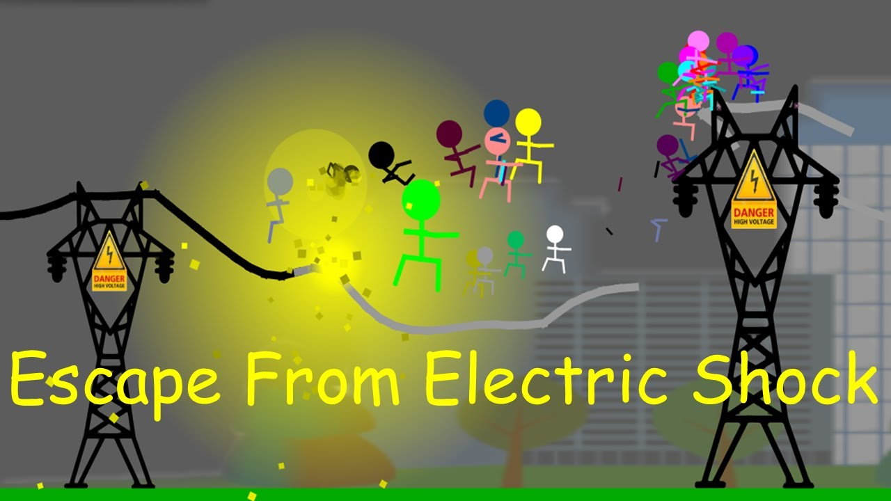 marble race  : Escape From The Electric Shock - Survival Marble Race In Algodoo