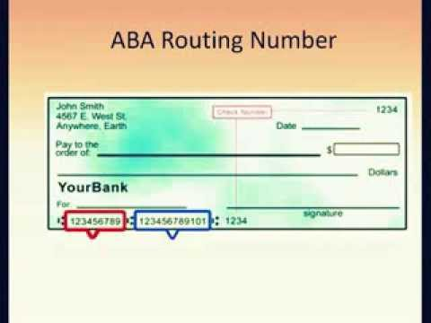 Bank Of America Routing Number Youtube