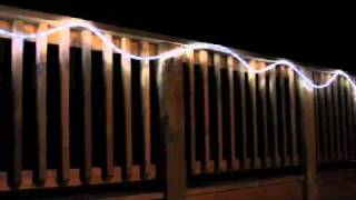 linkable indoor outdoor color changing white led 9 ft rope lights