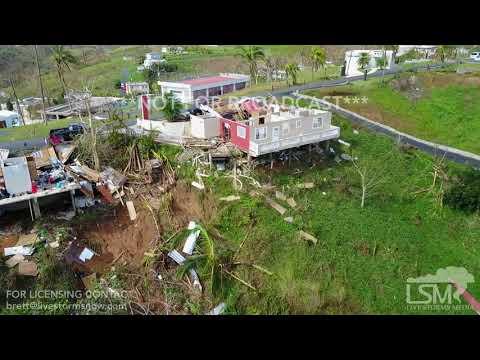 9-25-2017 Naranjitos, Puerto Rico Hurricane Maria drone footage mudslides, damage roads gone