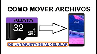 como mover música, fotos, videos, de la tarjeta de memoria a la memoria interna celular