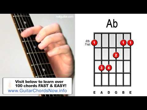 Ab/C Guitar Chord @ worshipchords