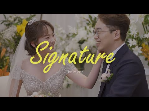 [4K]  합정 웨딩시그니처, 1분 하이라이트/웨딩영상, 본식DVD / 더팔레트 스냅&필름