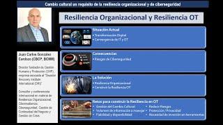 Resiliencia Organizacional y Resiliencia OT en infraestructuras críticas Chile - Agosto 2020