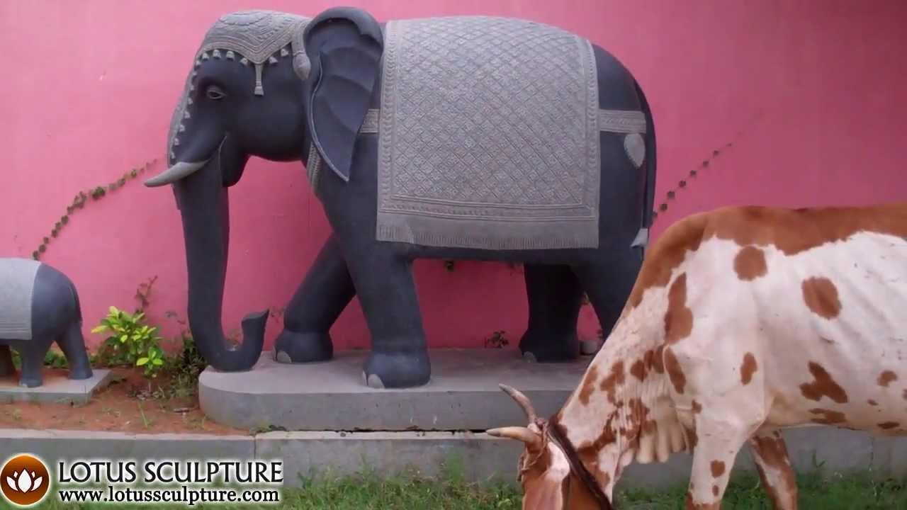Large Elephant Stone Garden Statue