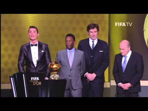 Lionel Messi and Franck Ribery Reaction to Ronaldo Winning Balon D'or+CR7 Speech