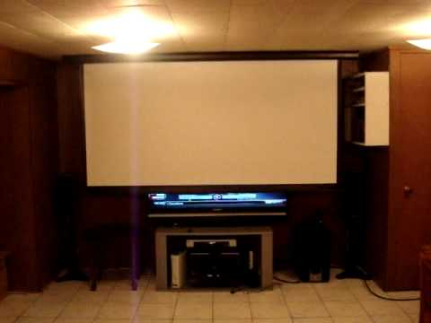 home theater projector setup work in progress the screen youtube rh youtube com Projectors for Home Theater with TV Capability Home Theater Projector Screen