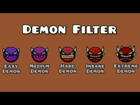 FINALLY DEMON FILTER WORKED! | Geometry Dash 2.1 (Easy.Medium.Hard.Insane.Extreme)