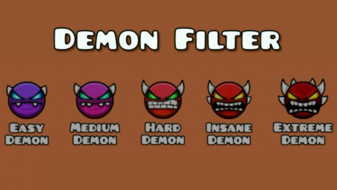 finally demon filter worked geometry dash 2 1 easy medium hard insane extreme youtube. Black Bedroom Furniture Sets. Home Design Ideas