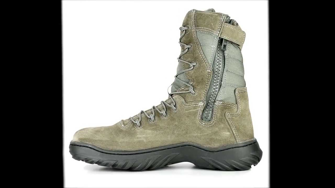 92cb7b71e623 Mens Converse CM9998 Steel Toe Side-Zipper Tactical Work Boot at Steel-Toe- Shoes.com - YouTube