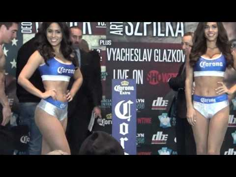 MIKE LEE weigh in and faceoff EsNews Boxing