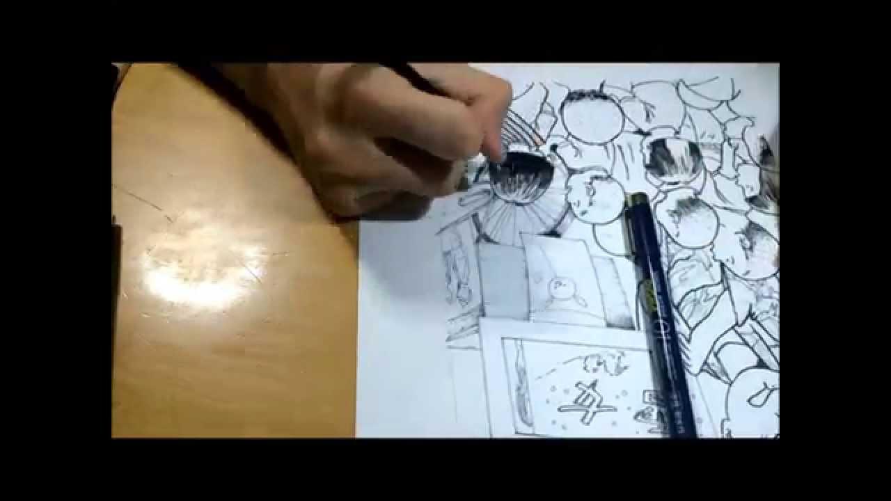 下書きからボールペンと筆ペンでの描き方 Youtube