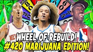 WHEEL OF REBUILD! #420JUSTBLAZE MARIJUANA EDITION! NBA 2K17 MY LEAGUE CHALLENGE!