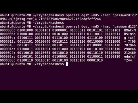 OpenSSL : md5 hash, HMAC and RSA signature