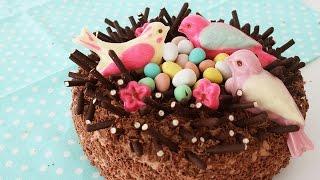 Bird's Nest Pocky Cake | ポッキー入り巣のケーキ