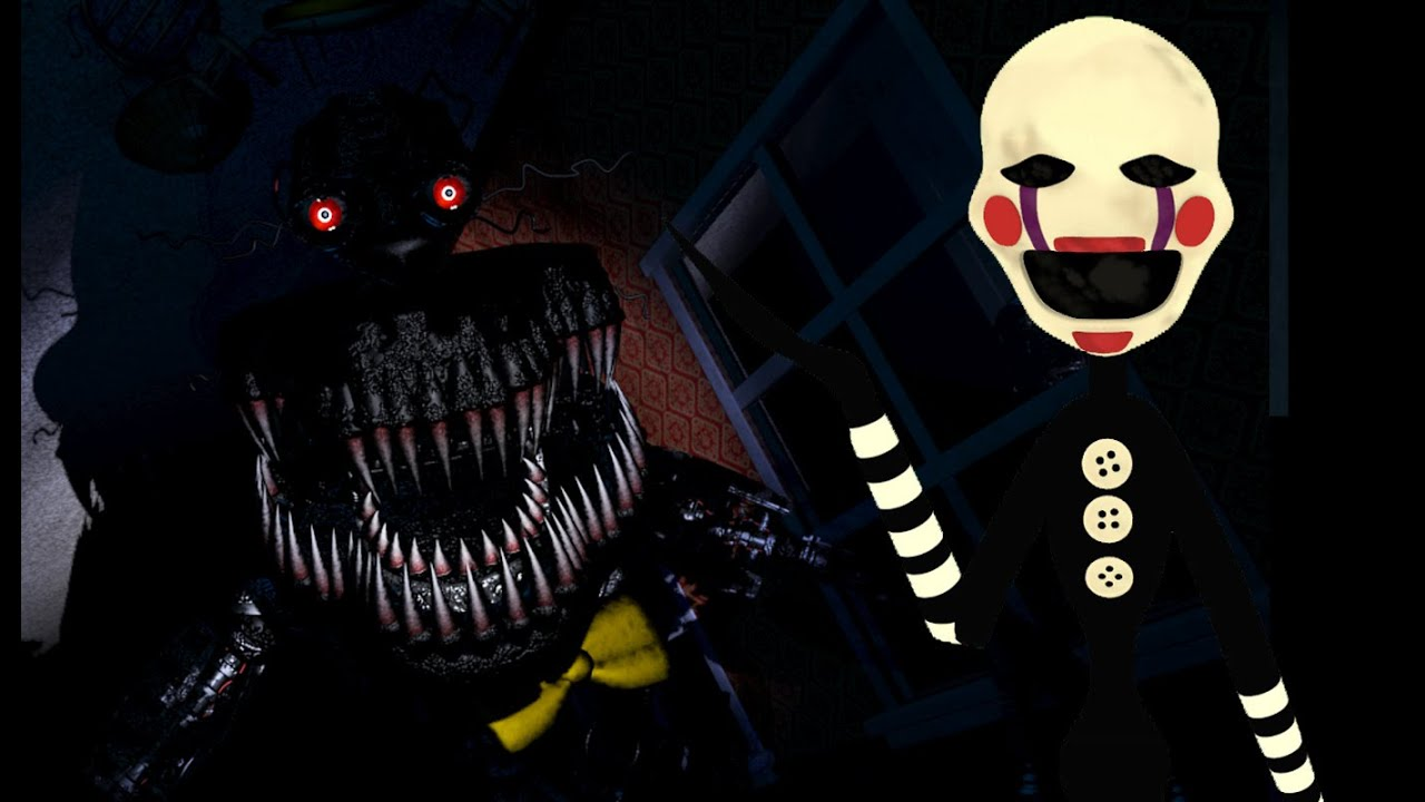 sfm fnaf the puppet plays five nights at freddys 4 night 7 youtube