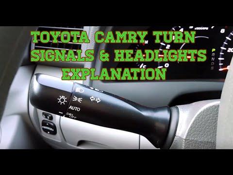 Toyota Camry Turn Signals Headlights Explanation Youtube