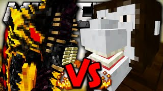 BATTRA LARVA VS KING KONG - Minecraft Batalha de Mobs - Minecraft Godzilla Mods