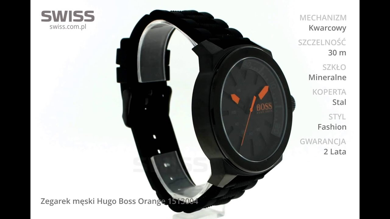 b6dc991fe9f www.swiss.com.pl - Zegarek męski Hugo Boss Orange 1513004 - YouTube