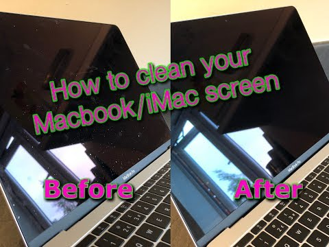 How to clean your Macbook or iMac screen