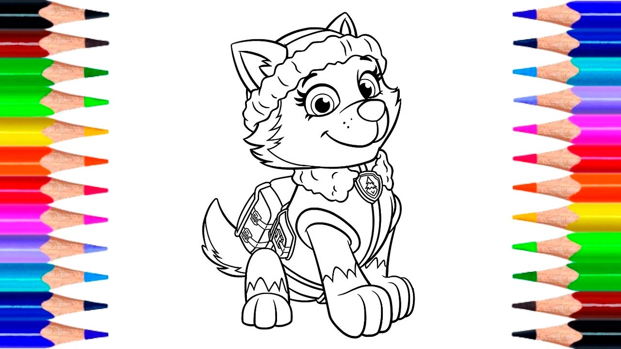 Paw Patrol Everest Coloring Pages How To Draw Everest