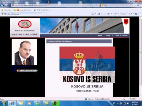 Ministry of Justice Albania hacked by Serbian hackers 2011