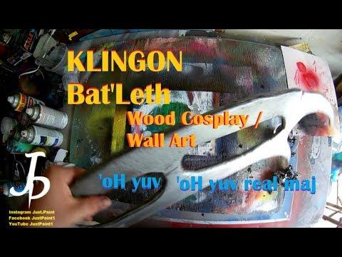 Wooden Star Trek Klingon Batleth Easy To Make