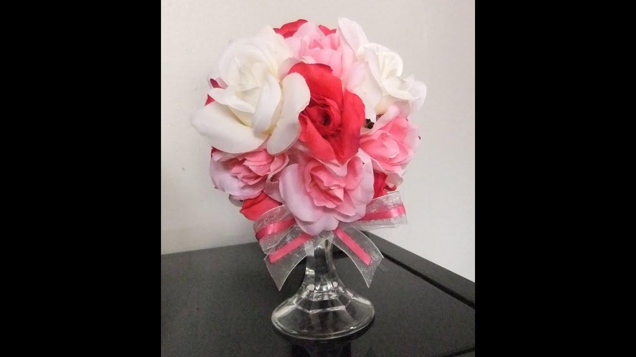 valentines day decoration pomander flower ball centerpiece youtube - Valentines Day Centerpieces