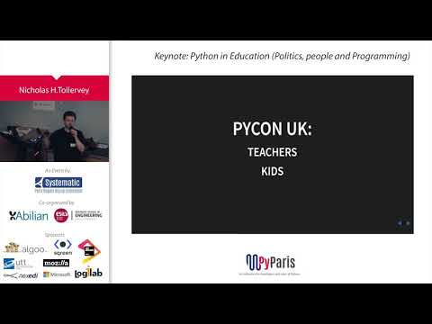 Image from Keynote: Python in Education