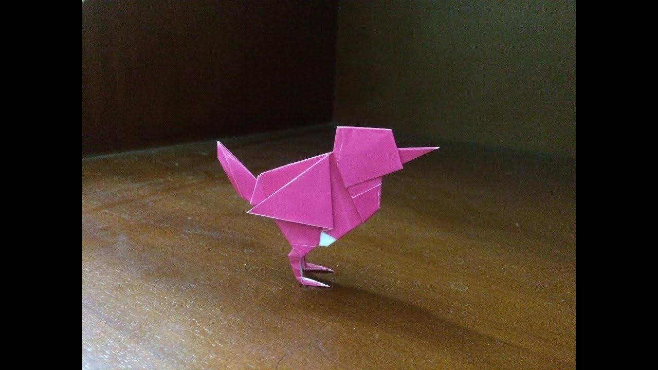 Origami Easy Bird Wren How to make easy bird wren