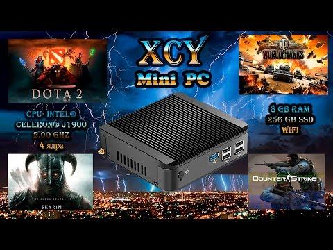 Мини пк XCY Mini Pc Windows 10 Intel J1900