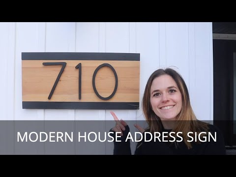 DIY House Numbers Sign | Modern Wood Number Plaque | Home Address Sign