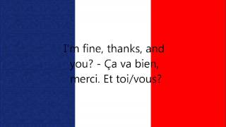 Скачать French Phrases I M Fine Thanks And You