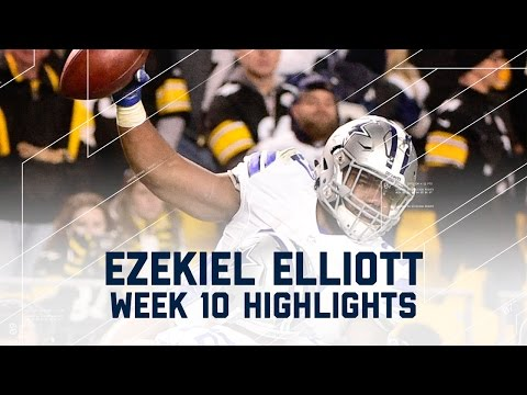 Ezekiel Elliott's Clutch 3-TD Game! | Cowboys vs. Steelers | NFL Week 10 Player Highlights
