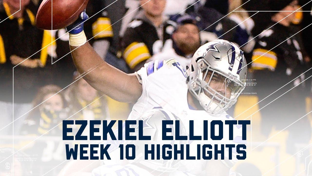 Download Ezekiel Elliott's Clutch 3-TD Game!   Cowboys vs. Steelers   NFL Week 10 Player Highlights