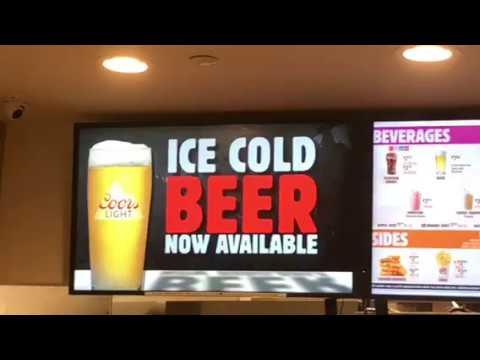Beer At Burger King United Airlines Terminal 3 At SFO Airport