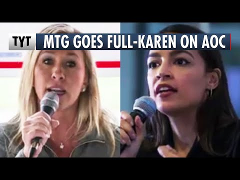 "Marjorie ""Karen"" Greene Confronts AOC"