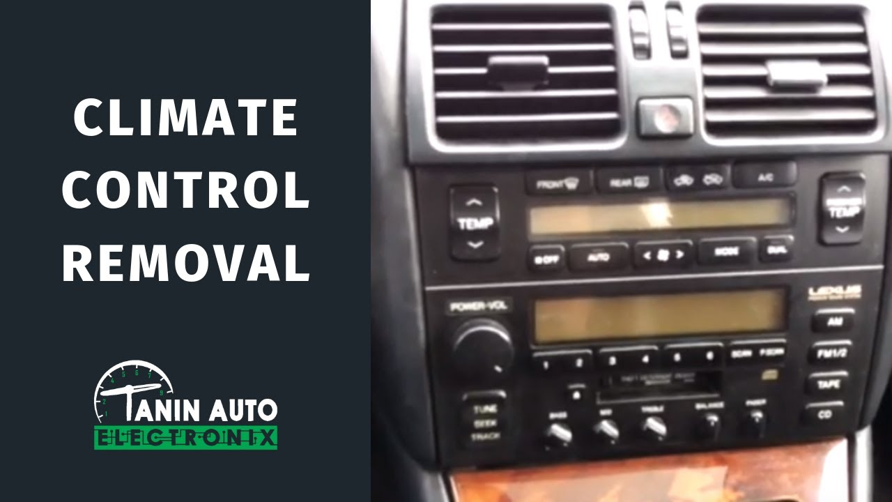hight resolution of 1995 1996 1997 lexus ls400 climate control removal