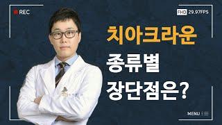 S리더치과병원 유정일원장 말하는 치아크라운 종류별 장단…